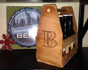 Custom Wood 6 pack carrier- made to order