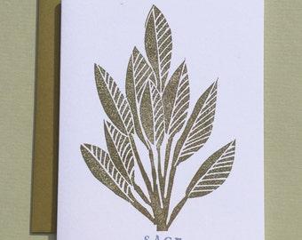 Sage Note Card