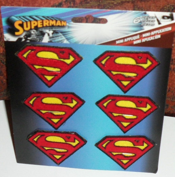 Superman Logo Embroidered Iron On Patch dc comics