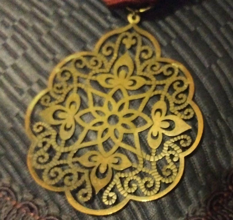 Bronze Beauty Filigree Butterfly Medal in Rich Detail on Burgundy Ribbon