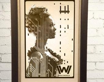 Westworld HBO Vintage Style Maeve Poster Print Retro  11x17