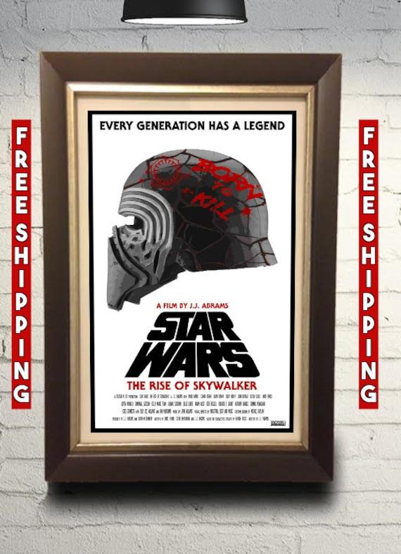 Star Wars Episode 9 Rise Of Skywalker Original Poster Art Etsy