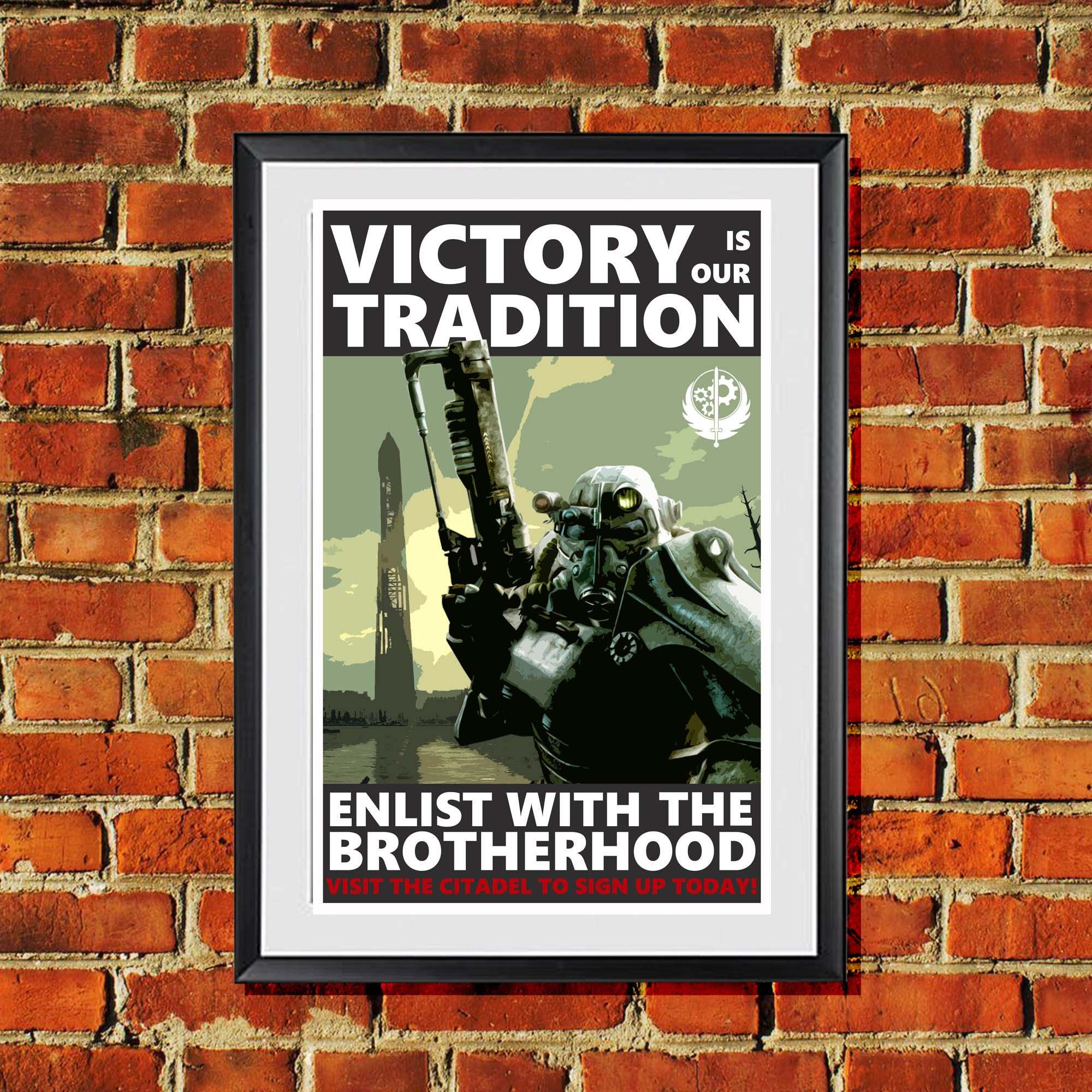 Caesar/'s Legion Propaganda Print Fallout 3 4 New Vegas 11x17 inches