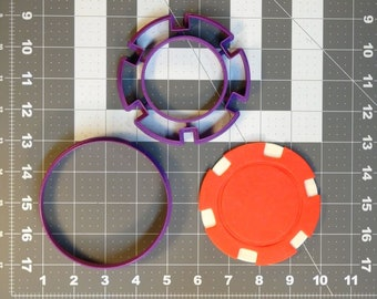 perfect for pop up phone holders Silicon Mould to make a Set of 9 different Poker Chips each being 40mm diameter