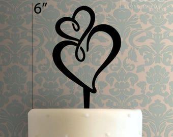 Heart 100 Cake Topper