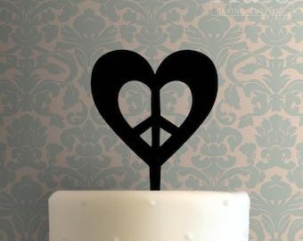 Love Heart 101 Cake Topper