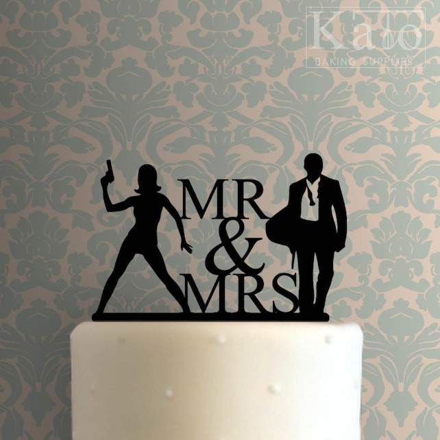 Mr and Mrs 106 Cake Topper