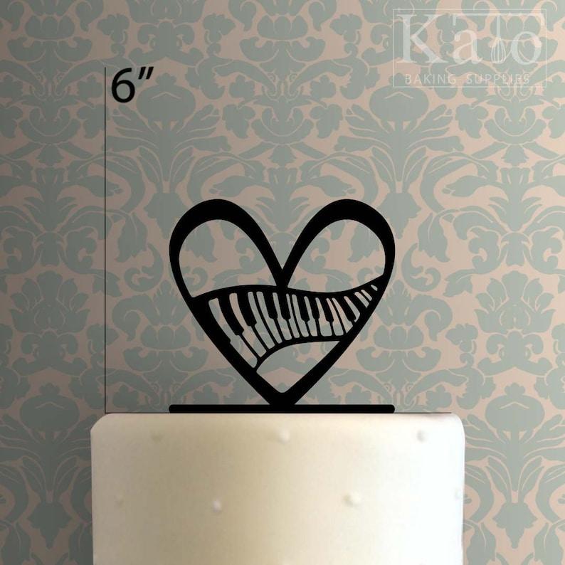 Piano Heart 225-322 Cake Topper