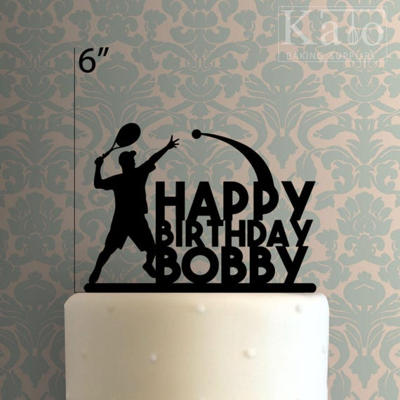 Joyeux Anniversaire 100 De Tennis Personnalisé Gâteau