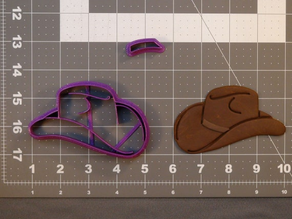 Cowboy Hat Cookie Cutter Mini and Standard Sizes 3D Printed