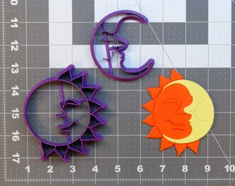 Sun and Moon 266-A367 Cookie Cutter Set