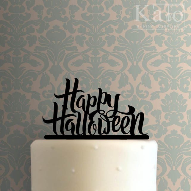 Happy Halloween 102 Cake Topper
