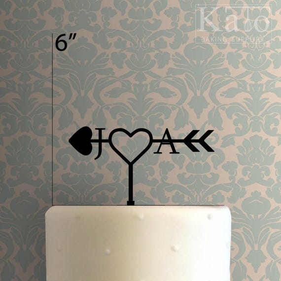Custom Love Initial 100 Cake Topper