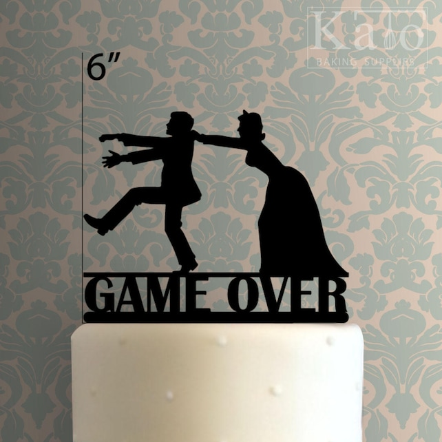 Game Over 100 Cake Topper