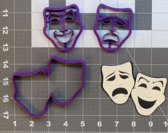 Comedy and Tragedy 266-A758 Cookie Cutter Set