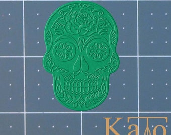 Sugar Skull 227-335 Cookie Cutter and Stamp  (Imprinted)