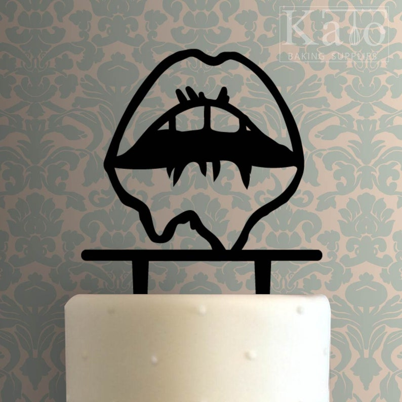 Dripping Lips 225-550 Cake Topper