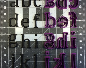 Cambria Font Lowercase Cookie Cutter Set