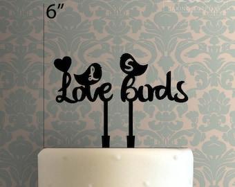 Custom Love Birds 100 Cake Topper