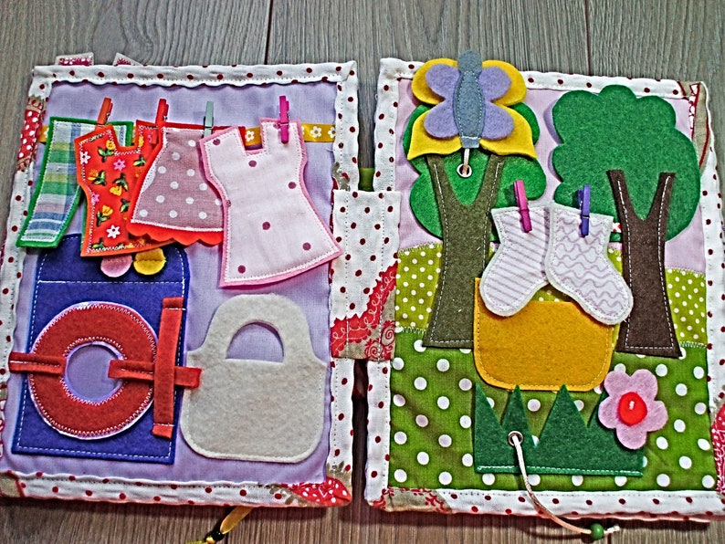 Quiet book for baby girltoddler birthday gift 10  pages with image 0