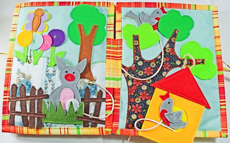 Quiet Book Activities For Boy Or Girl Under 5 Soft Funny Toy Etsy