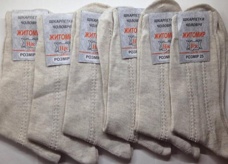 Socks 6 pair 100/% LINEN Flax XL  US11  EU 43-44 Eco Friendly