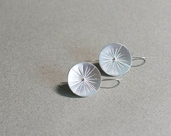 Sundial Earrings » Sterling Silver