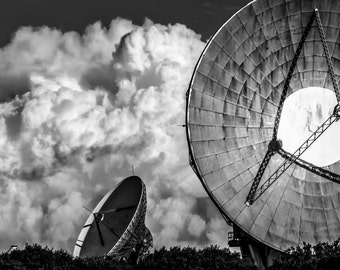 The Searchers 1.  Wall Art. Fine art black and white fine art photographic print. Fine art photography. Storm clouds. Goonhilly. Cornwall
