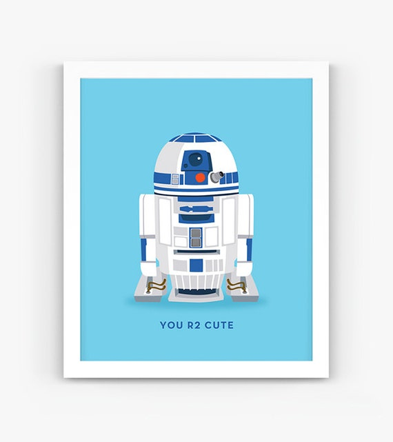 graphic regarding R2d2 Printable titled On your own R2 Adorable Star Wars R2D2 Quotation, Prompt Electronic Down load, Scalable Printable, Nursery Decor, Various Dimensions, Wall Artwork