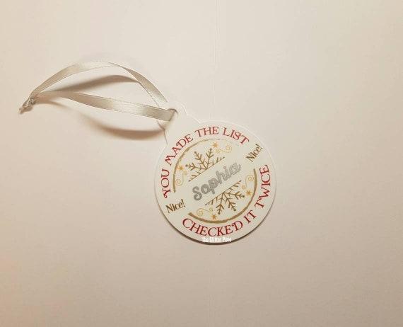Silver Babiole Noël personnalisées carte personnalisé