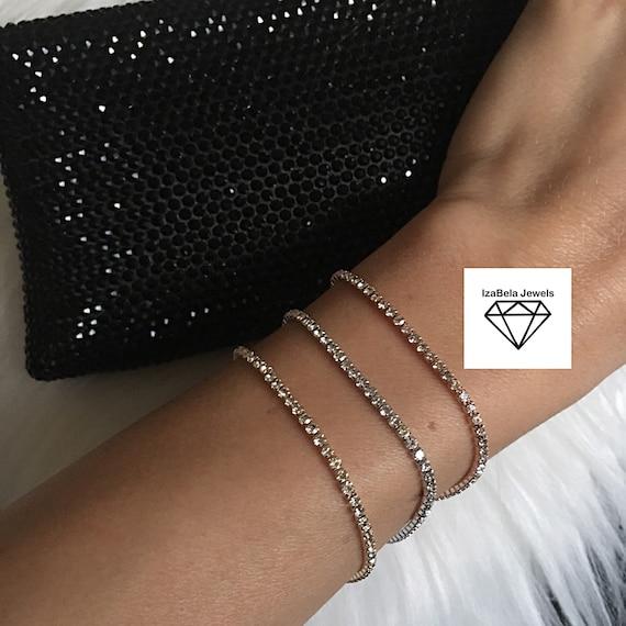 Lace bracelet \u00abGoth\u00bb made from Brass Size M D37 mm