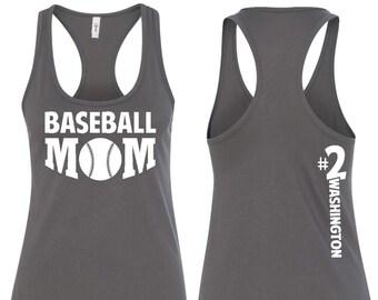 Baseball Mom, Baseball Mom Tank Top, Baseball Mom Shirt, Baseball Mom Racerback, Baseball Mom Tank, Mom Gift, Wife Gift