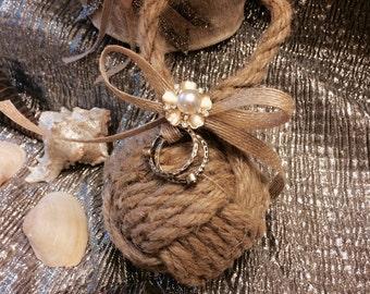 Seaside Sparkler Ring Bearer Nautical Knot