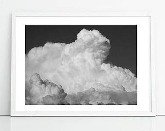Cloud Photo, Sky Print, Nature Photography, Printable Art, Office Decor