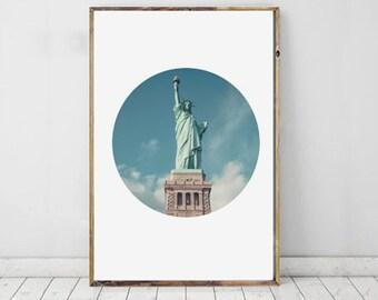 Statue Of Liberty Photography, Lady Liberty Art, Statue Of Liberty Print, USA Photography, America Photo, Printable Art, Wall Decor