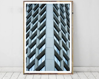 Urban Modern Photography, Window Building Printable Art