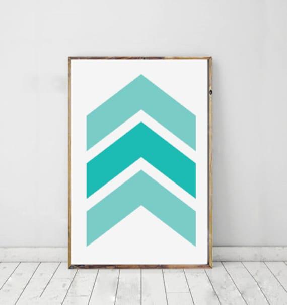 geomeric Chevron Art Personnalisé Desings Turquoise Nappe