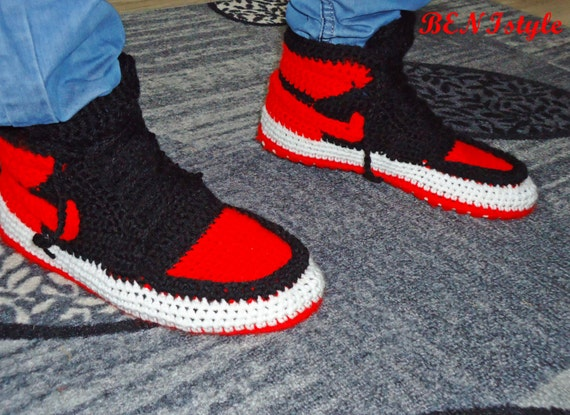 Air Jordan Bred Shoes Crochet Converse