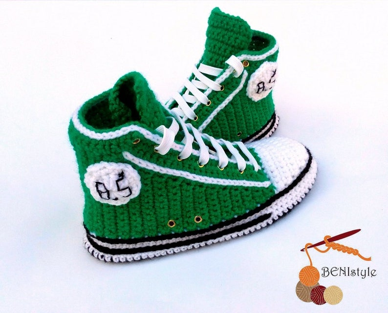 07108536d58a Crochet sneakers Women Shoes Crochet Adult Converse shoes