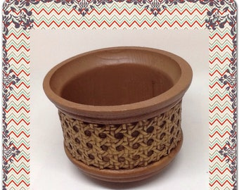 Planter USA Made for FTD 1981 Brown Gold Plastic Home Decor Patio Porch Decor Country Decor Table Decor Cottage Chic Decor Indoor Outdoor