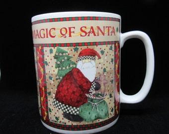 Mug The Magic of Santa Vintage Sakura Kitchen Decor Country Decor Holiday Decor Christmas Decor Gift Collectible Home Decor Country Decor