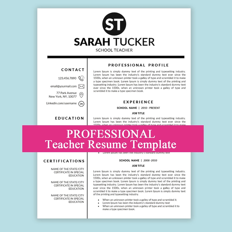 math teacher resume cover letter