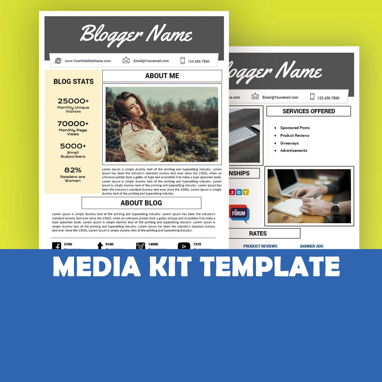 Media Kit plantilla mixta Kit descarga instantánea tipo hoja | Etsy