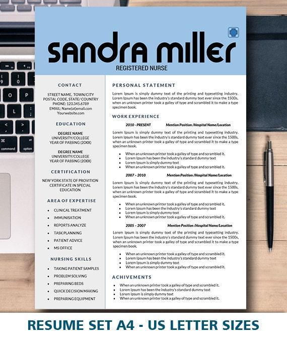 Resume Nursing Nurse Medical Assistant Resume Resume Etsy