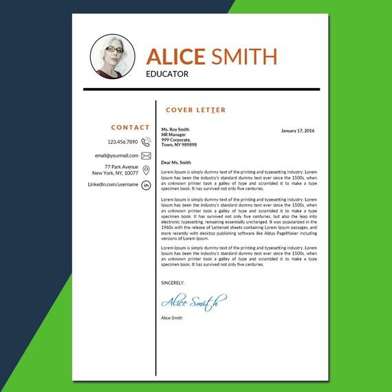 teacher resume template education resume teacher cv etsy