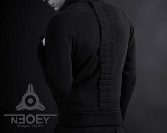 Cyberpunk men's sweatshirt  with spine Sekichu- by NEOBY Design