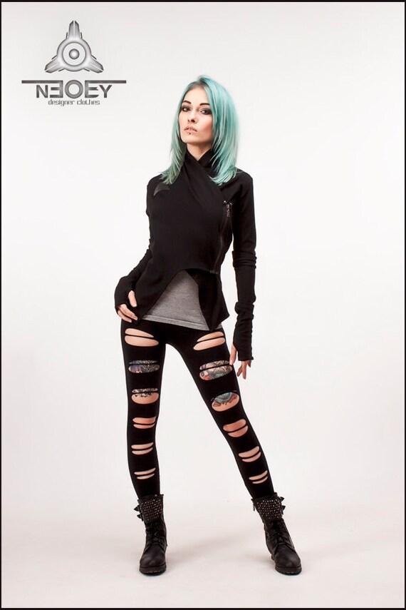 Shunkan Tailleur Noir Jersey Par Cyberpunk Neoby Etsy Veste ItU8wFxBq