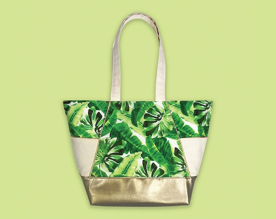 Tropical Leaf Bag Tropical Leaf Print Carry All Tote Tote  3d60e1f2788cb