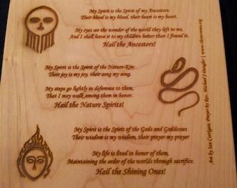 Kindred Prayer Plaque