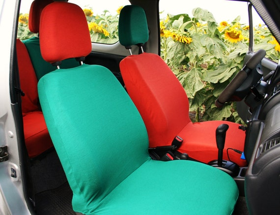 Mix Match Colors Car Seat Covers Fuxia Pink Forest Green
